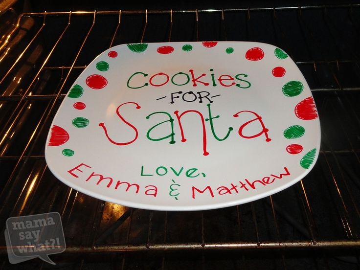 "Make a DIY ""Cookies For Santa"" Plate. Nx"