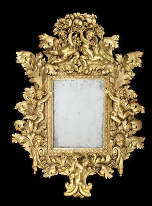 Bonhams : Europe - 17th century giltwood mirror
