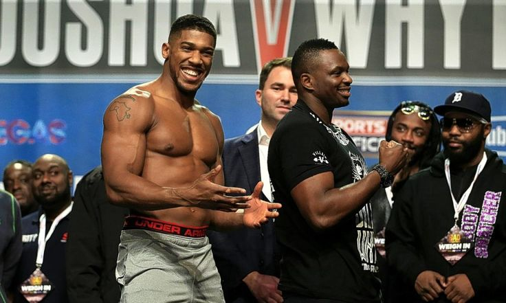 Joshua vs. Whyte Weigh In