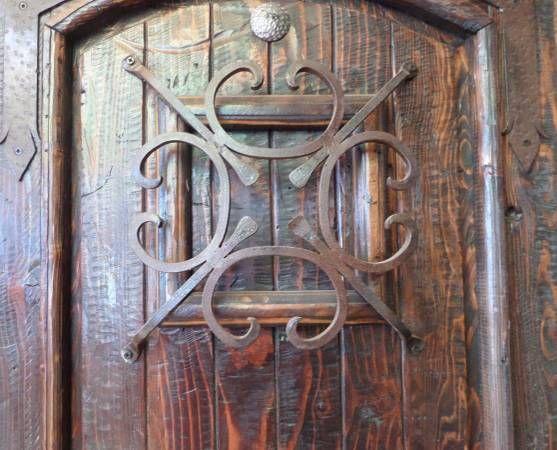 Rustic Exterior Handmade Door Reclaimed Lumber Wrought