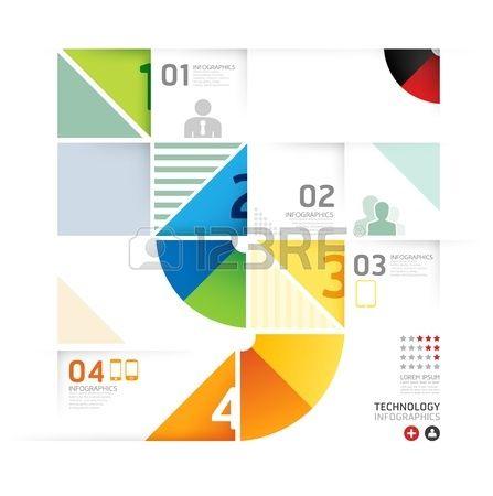 Abstract infographic Ontwerp Minimale cirkel vorm stijl technologie template / kan worden gebruikt voor infographics / genummerd banners / horizontale uitsparing lijnen / grafische of website lay-out vector Stockfoto