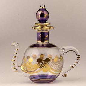 "Glass ""Tea pot"" Perfume Bottle - modern"