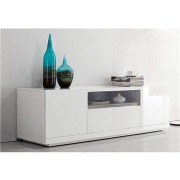 Kingdom High Gloss White TV Unit - 160cm