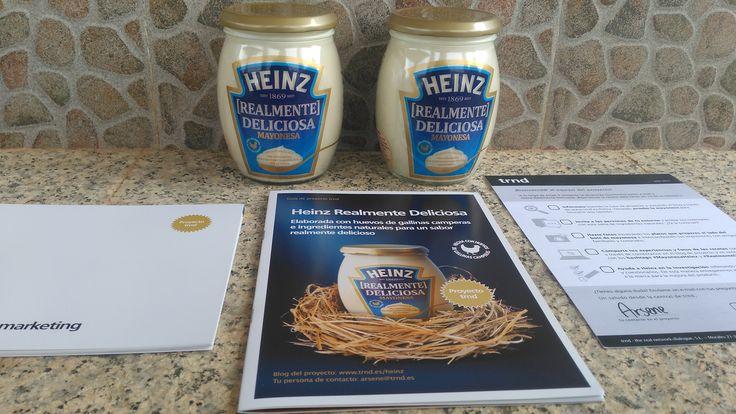 #MayonesaHeinz #RealmenteDeliciosa Embajador del producto para darlo a conocer gracias a @trnd españa !! La mayonesa Heinz reinará mis platos y vamos a ver todo el proceso del producto en mi página web y redes sociales !! No te lo pierdas !!