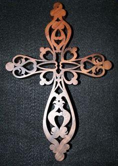 scroll saw patterns free | Victorian Fretwork Cross (Pattern by John Nelson) - Scroll Saw ...