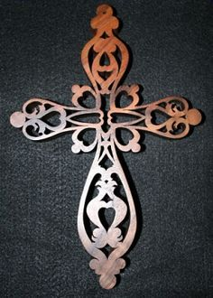 scroll saw patterns free   Victorian Fretwork Cross (Pattern by John Nelson) - Scroll Saw ...