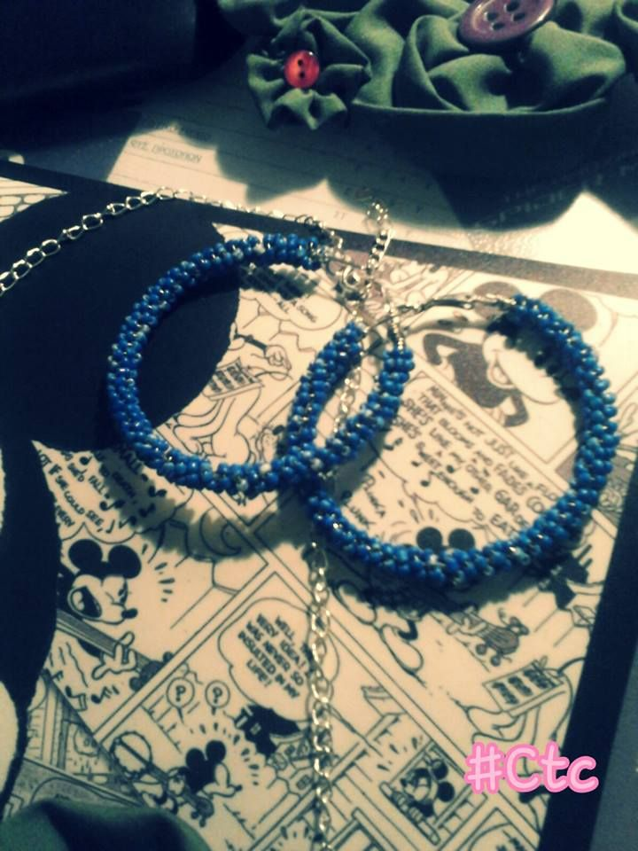 blue marble earrings...5$ #ctc #collection #earrings #blue #marble