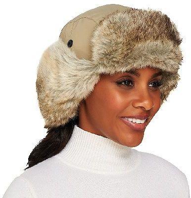 3e93f8d6af2 Qvc Trapper Hat With Ear Flaps In Faux Fur Trim