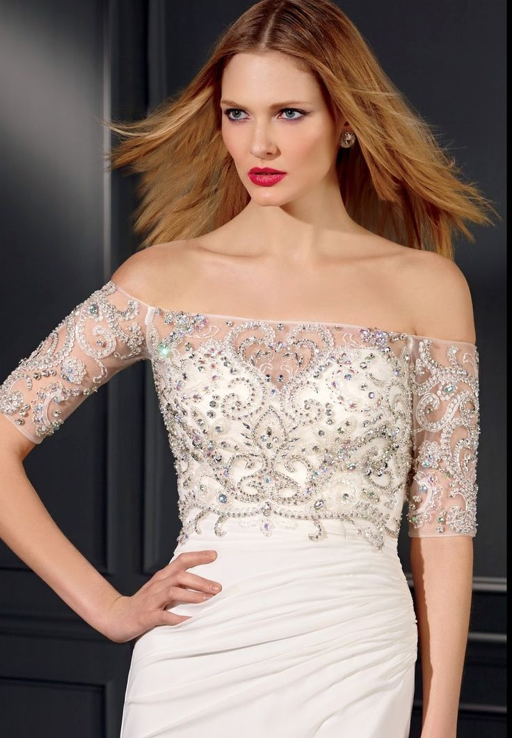 Style * 7009 * » Bridal Tops » Vegas Fall 2014 Collection » by Claudine for Alyce Paris » Available Colours : Ivory, White ~ Also available to Mix & Match with any of the Vegas Destination Wedding Dresses