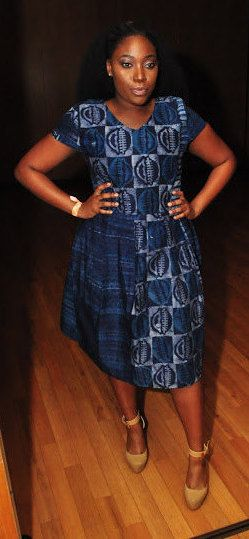 Blauw Tie Dye jurk Afrikaanse jurk Afrikaanse door JuanJayzzDesign