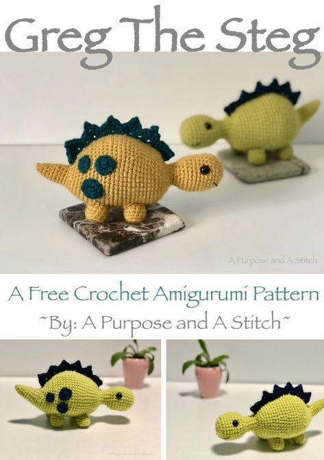 Greg the Steg- A Free Amigurumi Pattern   crochet   Pinterest ...