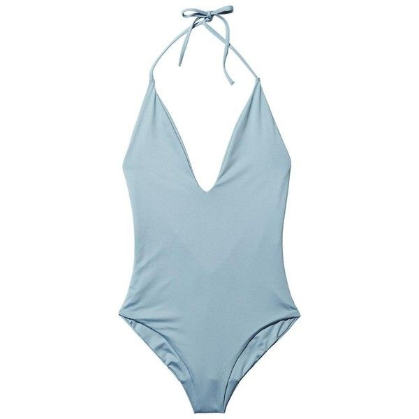 Onia Nina Halter One Piece Goop ❤ liked on Polyvore featuring swimwear, one-piece swimsuits, halter top, 1 piece swimsuit, sexy bathing suits, one piece swimsuit and sexy one piece swimwear