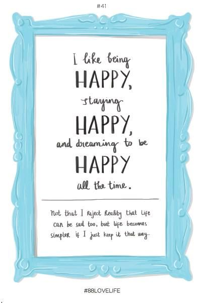 About being happy from #88lovelife book