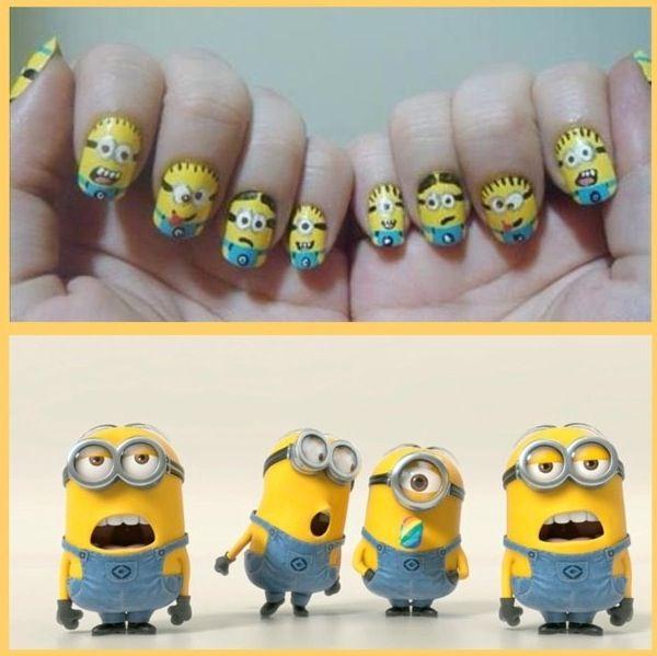 Minion Nail Art. #minion
