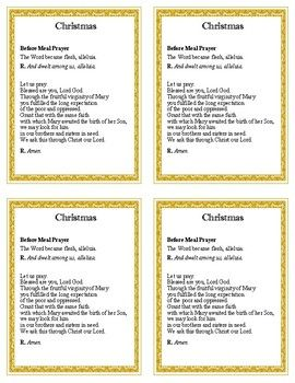 FREE! Prayer cards to help enter into the Catholic Liturgical Seasons. Prayers come from the Catholic Book of Blessings and include a before meal and after meal prayer for each Liturgical Season (Advent, Christmas, Lent, Sacred Triduum, Easter and Ordinary Time).