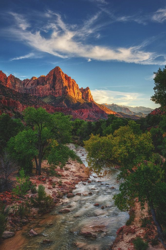 Zion National Park, Utah.  Camped near here