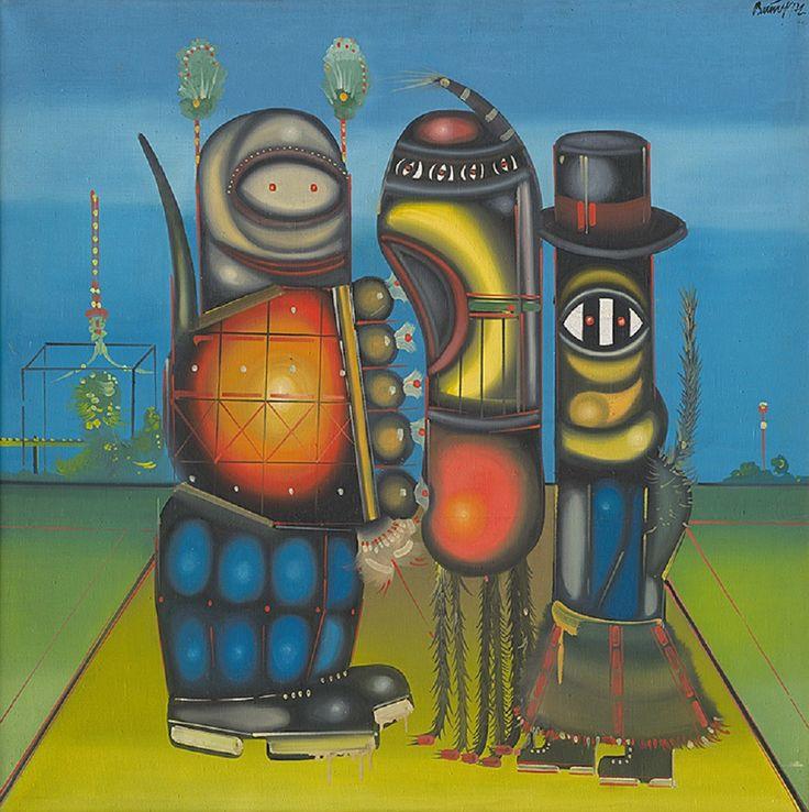 Pierre Menard — Karol Baron - Interview  (oil on canvas, 1972)