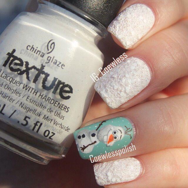 Cutest Olaf nails