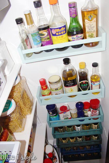 bekvam spice rack pantry organization ombre