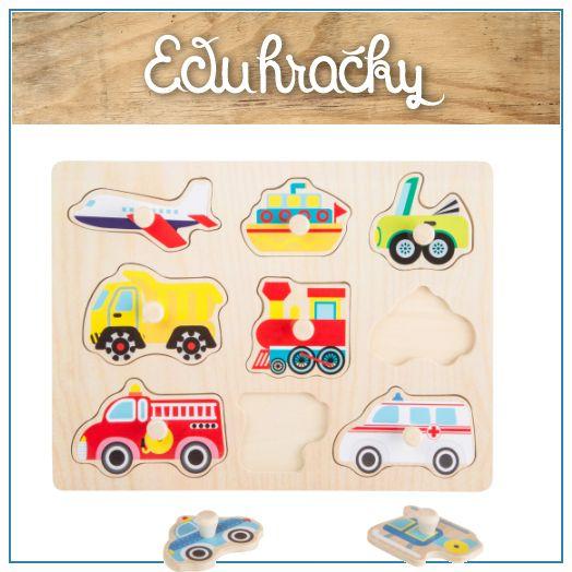 Drevené puzzle s úchytkami sú hračky určené pre deti od cca 1 roka a podporuje jeho zručnosti ako je jemná motorika, manuálnu zručnosť, logické myslenie a cit pre tvar predmetu. Dieťa sa najskôr učí uchopiť úchytku a vybrať puzzle zo svojho miesta. Keď dieťa vyberie všetky obrázky pomocou úchytiek, následne im musí nájsť to správne miesto podľa tvaru pre každý kúsok puzzle a napasovať ho tak, aby presne zapadlo.