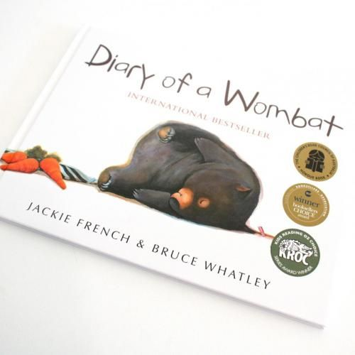 Presented here as a large hard cover edition, this little Wombat sleeps, eats, and scratches. Training humans to become better pets, this wonderful Australian tale is about a wombat with attitude. International bestseller and sure to become a children's classic, Diary of a Wombat by Jackie French and Bruce Whatley.
