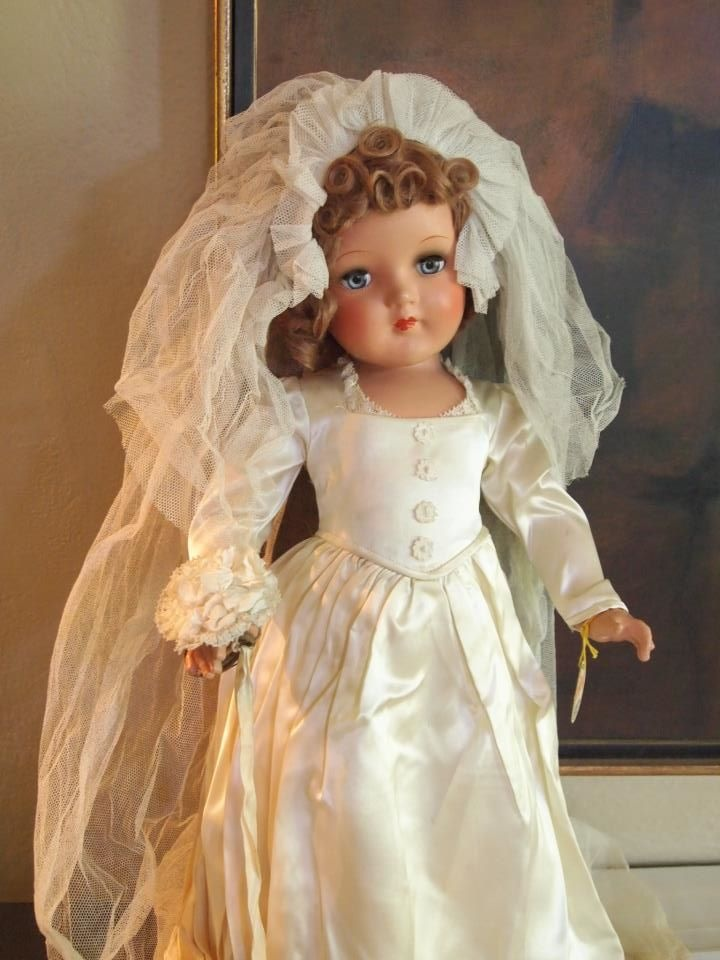 43 Best Bride Dolls Images On Pinterest Antique Dolls