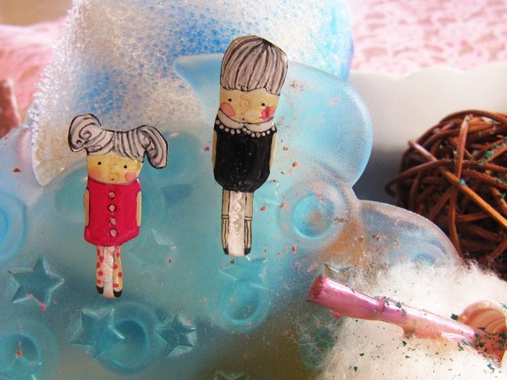 Mother & child - earrings
