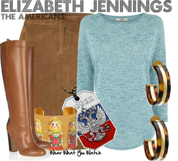 "Inspired by Keri Russell as Elizabeth Jennings on ""The Americans"" - Shopping info!"