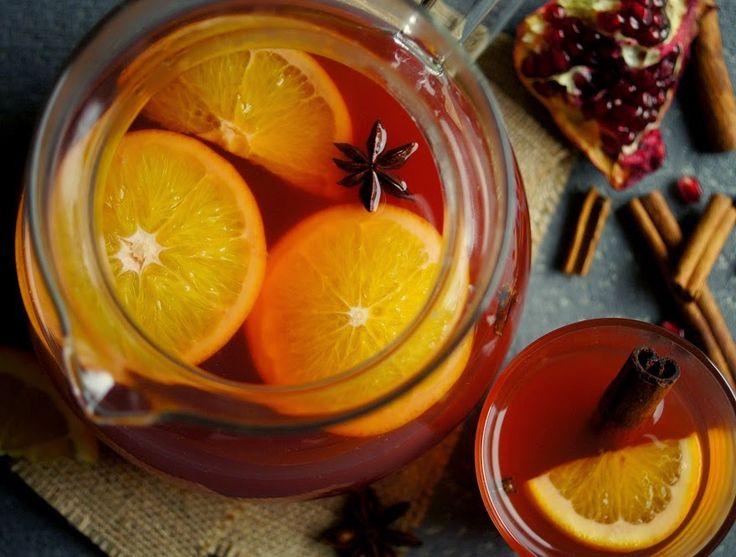 Przy Piecu: Rozgrzewająca herbata z sokiem z granatu