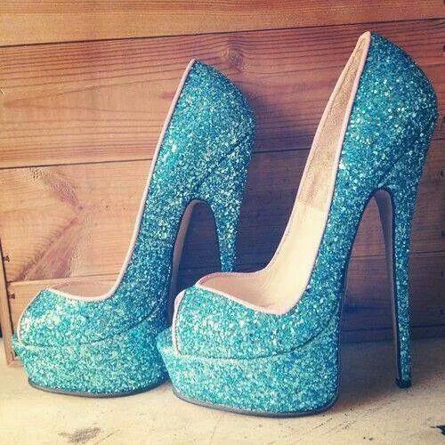 Turquoise Amp Glitter Sexy Stilleto Shoes★★★ Pinterest