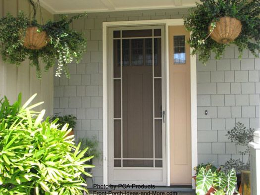 Love the porch and screen door. Nice colors too! Front-Porch-Ideas-and-More.com  #frontdoor