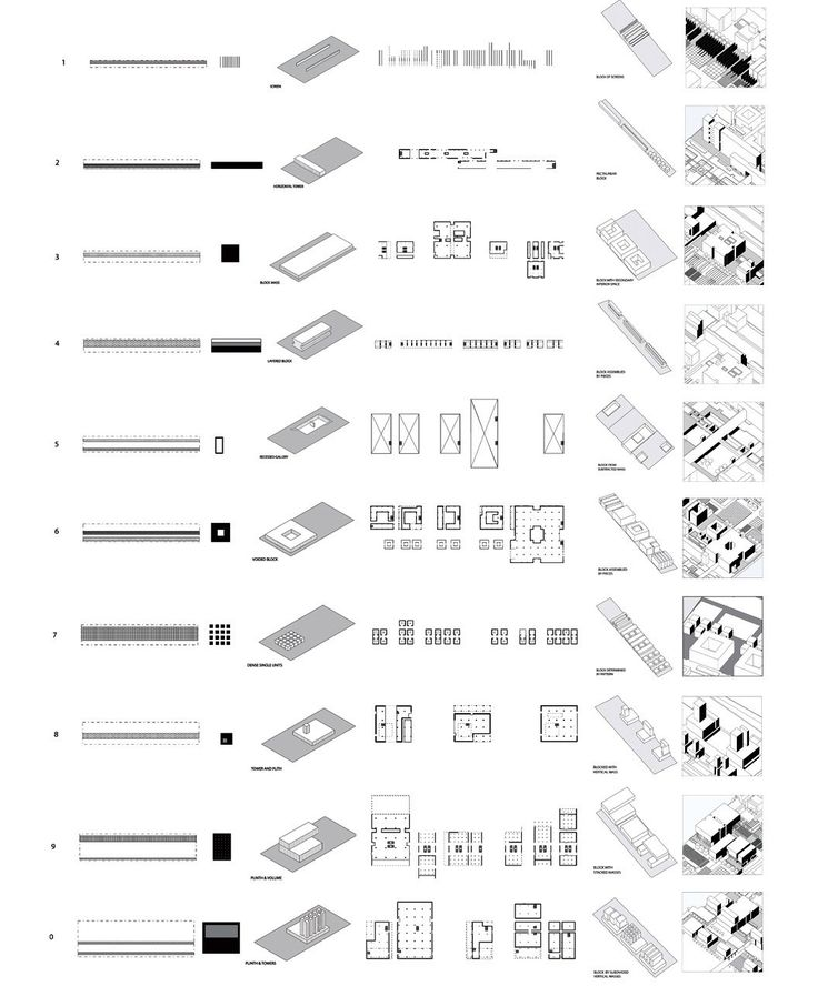 ungers - building typology diagrams