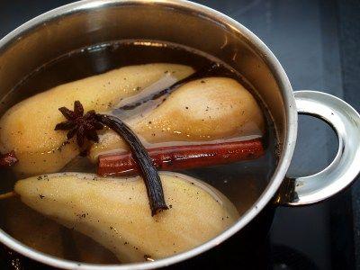 Krydderkokte pærer