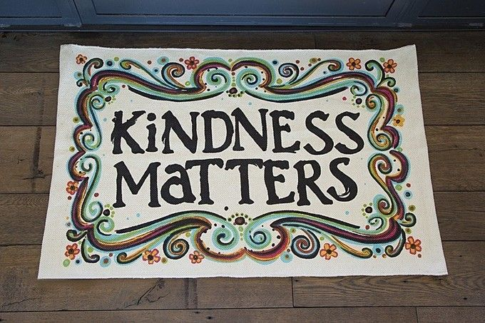 I would love to have this for my kitchen!  Yes. :: Kindness Matters Throw Rug by Buddha Groove