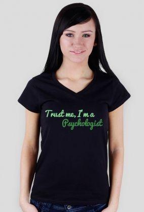 Trust me, I'm a psychologist - damska, zieleń, 49,00 zł, #psychologia, #psychology, #psychopraca, #cupsell, #gifts, #prezenty, #trustme