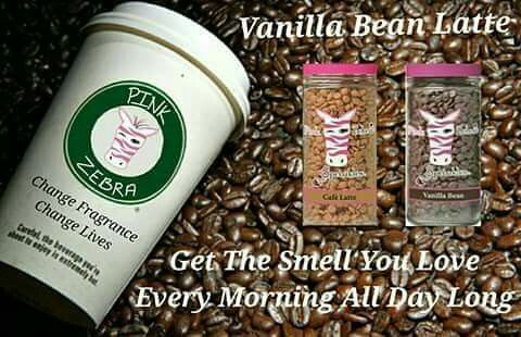 Pink Zebra recipe for Vanilla Bean Latte is made with Cafe Latte and Vanilla Bean sprinkles. Go to www.pinkzebrahome.com/mrasley to order.