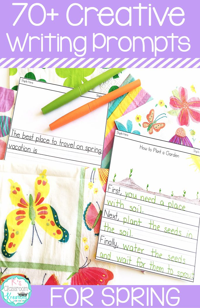 Are you looking for creative writing prompts for the spring? Inspire your K-2 students with these opinion, informational, and narrative prompts focusing on all things spring! Topics like Easter, Earth day, warm weather, plants, animals, etc are included.