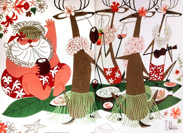 122 Best Mod Santa Christmas Cards Images On Pinterest