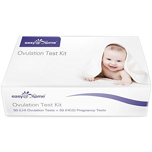 "Easy@Home 50 Ovulation Test Strips and 50 Pregnancy Test Strips Kit - the Reliable Ovulation Predictor Kit  Specially designed for ""Trying to conceive"" women to get pregnant naturally :Ovulation tests gives woman greater chance of predicting their most fertile days, even if their cycle lengths are variable; Pregnancy tests tells pregnancy sooner than missed period;  Tracking ovulation surge with sufficient tests and minimize the chances missing the LH Surge;  Easy to test : simply dip ..."
