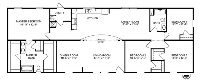 "Oakwood Homes Floor Plans floorplan oly28764a ""hercules"" 