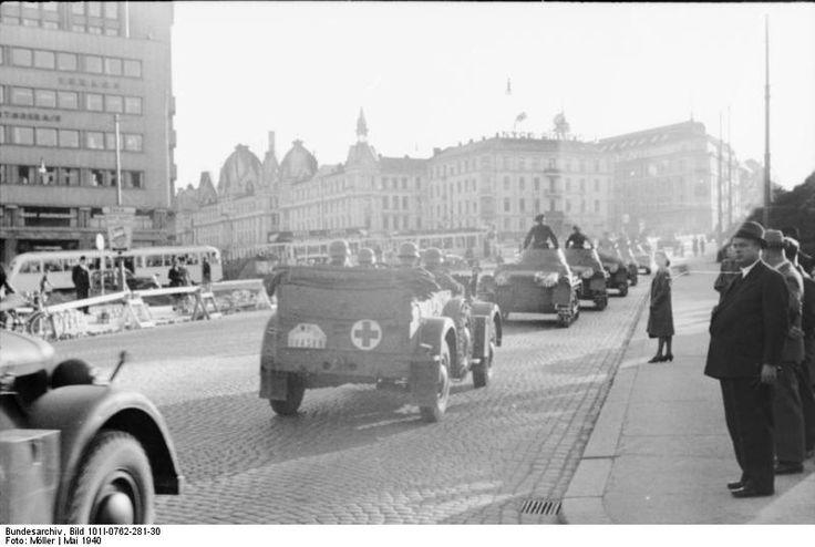 Tropas alemanas entran en Oslo-Noruega.