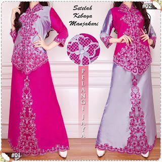 M&A Hijab: Setelan Kebaya Bordir Cantik Murah Pink Silver KB-...