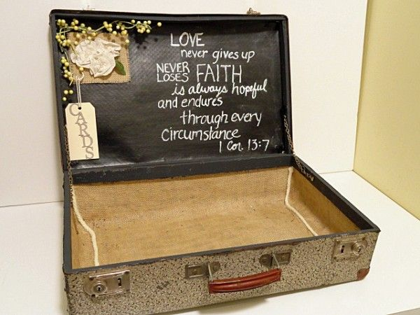 Another Gift Card Holder - Using A Suitcase And Chalkboard Paint
