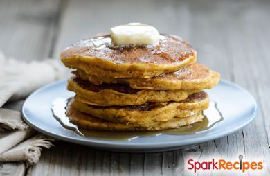 Cottage Cheese Oatmeal Pancakes Recipe via @SparkPeople