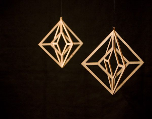 "Valona design ""Himmeli"" . Laser cut out of birch plywood. Designed and made by Elina Mäntylä, Finland. www.valona.fi"