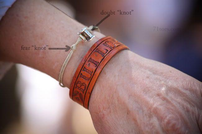 Doubt knot ~ Fear knot bracelet and devotional idea