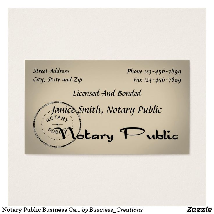 22 best Notary Public Business Cards images on Pinterest   Business ...