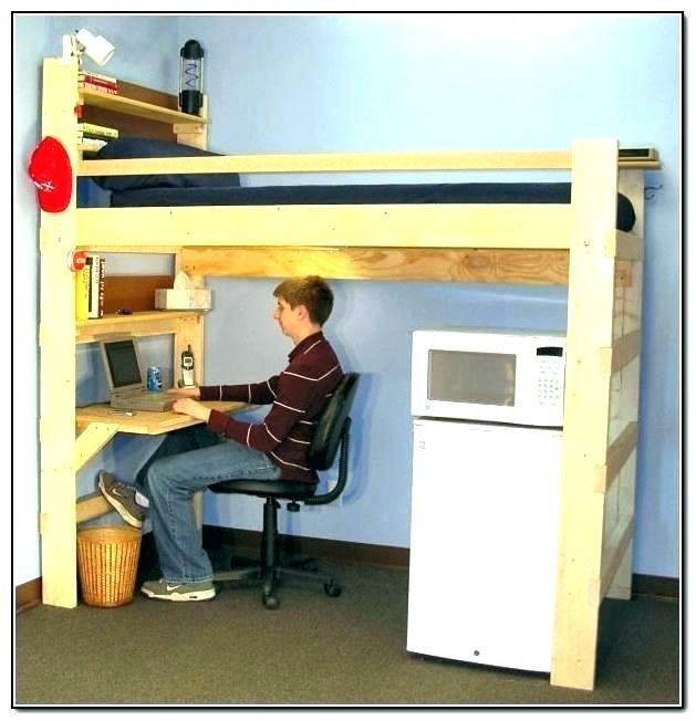 79 Bed Desk Combo Loft Bed Plans Bunk Bed With Desk Lofted Dorm Beds