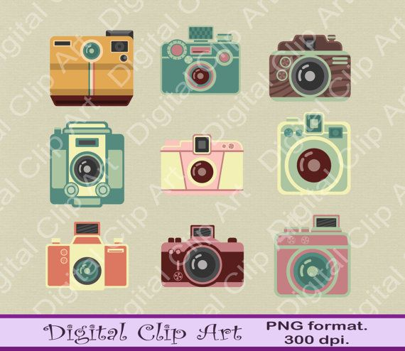 Cameras Clip Art Owls Clipart  Instant Download by digitalcliparts
