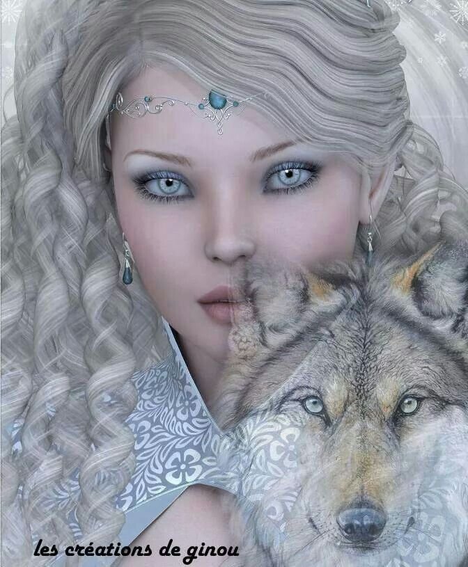 Image result for Beautiful Gothic Woman and Wolf